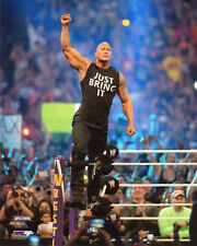 Pro Wrestler THE ROCK Glossy 8x10 Photo WWF Print Poster WrestleMania XXX 30