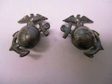 U.S.M.C. Eagle Globe & Anchor Collar Insignia Matched Pair