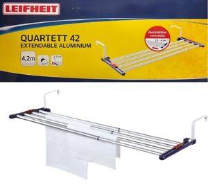 Leifheit Universaltrockner Quartett 42 Extendable Aluminium Auszieh-Wandtrockner