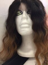 Gorgeous Waves LaceFront Wig,30Inch Long Ombré 613 Synthetic Cosplay Wigs.Superb