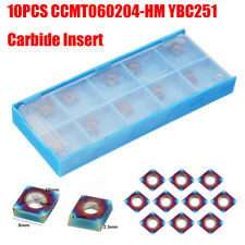 10pcs CCMT060204-HM YBC251 Carbide Inserts Blue Nano Coating HRC40 Lathe Cutter