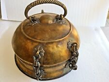 BEAUTIFUL ANTIQUE 18-19th C CHINESE H/MADE BRASS BRONZE JEWELRY SAFE BOX W/COVER