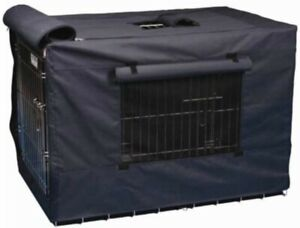 Precision Indoor Outdoor Dog Crate Cover Navy Nylon Canvas 42 inch size