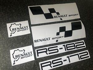 RENAULT SPORT CLIO RS 172 182 NURBURGRING STICKER SET