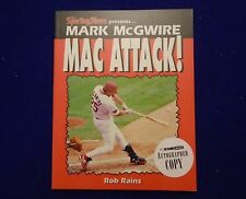 """ROB RAINS """"MARK McGUIRE: MAC ATTACK"""" SIGNED AUTOGRAPHED BOOK"""