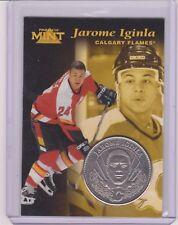 RARE 1996-97 PINNACLE MINT JEROME IGINLA SILVER / NICKEL COIN & CARD #29