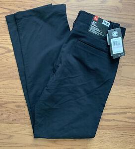BNWT Under Armour UA Match Play Golf Loose Pants Mens Size 32x32 Black