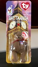 Britannia The Bear McDonalds 1999 Ty Beanie Baby VERY RARE ERROR TAG SEWN TO LEG