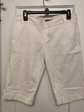 CLUB MONACO Women's WHITE Walking Shorts Cotton/Spandex Size 8