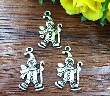 8pcs snowman Tibetan Silver Bead charms Pendants DIY jewelry 23x12mm #HJ-25