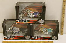 3 Hot Wheels Thunder Rides Nascar Motorcycles Cheerios Valvoline Citgo   NIB