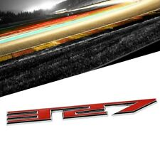 Red/Chrome 327 Logo Sign Engine Sport Car Badge Emblem Metal Decal Plate