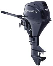 New TOHATSU 9.8HP Short Shaft, Manual Start & Tiller Control 4-Stroke Outboard