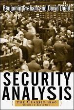 Security Analysis by Benjamin Graham, David Dodd (Hardback, 2002)