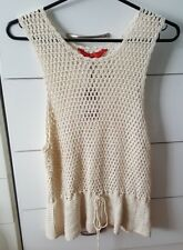 TIGERLILY Crochet Singlet Ladies Top Size L 12 14 Casual Boho Festival Indie BN