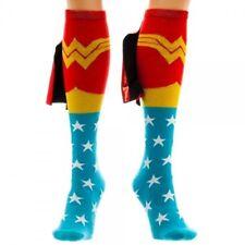Womens Wonder Woman DC Comics Licensed 'Suit Up'  Knee High Shiny Cape Socks