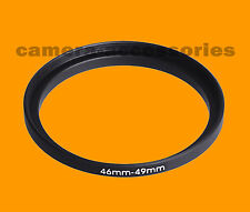 46mm to 49mm 46-49 Stepping Step Up Filter Ring Adapter 46-49mm 46mm-49mm