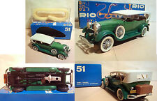 RIO - LINCOLN 1928 SPORT PHAETON SCOPERTA NR 51 - SCALA 1/43 - MADE IN ITALY