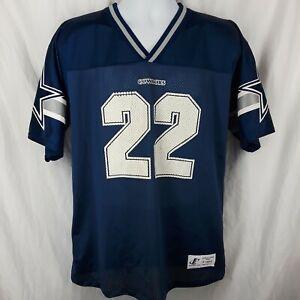 Emmitt Smith Logo Athletic Dallas Cowboys Blue Jersey Youth Size XL 18-20 Vtg