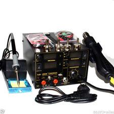 4in1 909D+ Heat Hot Air Gun 110V Rework Station Soldering iron Power Supply 800W