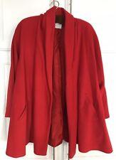 Austin Alan RED Women`s Wool, Cashmere & Angora Lined Wrap Coat Size 6/Medium