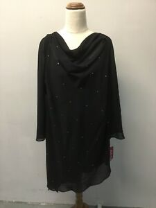 Eve Hunter Cowl Neck Black top new with tags size 20
