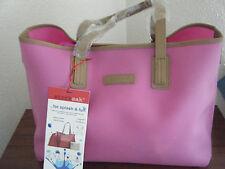 Storksak Ariel Pink Waterproof Changing bag inc Changing mat Drawstring Bag NEW