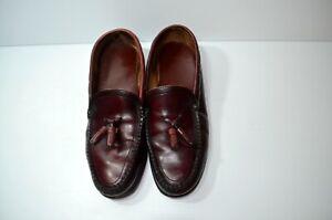 Dexter Mens Cordovan Burgundy Tassel Loafers Slip On Dress Shoes Size 10.5 E