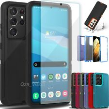 For Samsung Galaxy S21 21+ Ultra Shockproof Rugged Cover Case + Screen Protector
