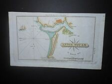 Annis Squam Harbor Ipswich Bay Coffin's Beach Massachusetts 1827 Map Hand Color