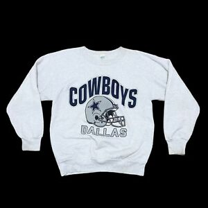 VTG Dallas Cowboys NFL Gray Crew Neck Sweater Men's Size L
