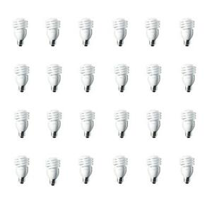 Philips CFL Light Bulb 100W Equivalent Daylight Deluxe T2 Twister (24 Pack)