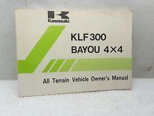 New NOS OEM Kawasaki Owners Manual 1989 KLF300 KLF300-C1 Bayou 4X4 99920-1452-02