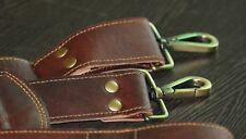 Brown Distressed Leather Replacement Shoulder Strap - Luggage / Messenger Bag