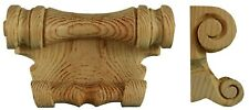 Sleigh Bed Shield or Blanket Box Handle, hand carved in pine wood, PN691