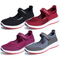 UK Women Mesh Sneaker Slip On Trainers Breathable Ladies Sport Casual Shoes Size
