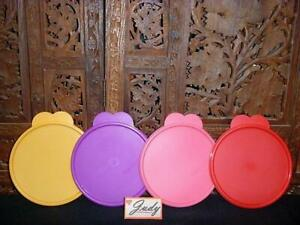 "Tupperware 4 Yellow Purple Pink Red Replacement ""C"" Seals (#2541) Butterfly Tabs"