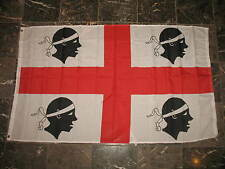 3x5 Sardinia Sardinian Four Moors Rough Tex Knitted flag 3'x5' Brass Grommets