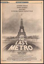 THE LAST METRO__Original 1980 Trade print AD promo / poster__FRANCOIS TRUFFAUT