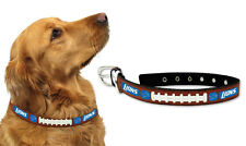 Detroit Lions Small Leather Lace Dog Collar [NEW] Pet Cat Lead CDG NFL
