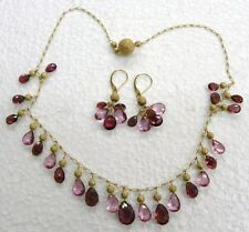 Estate 14kt Solid Yellow Gold and Semi-Precious Jewelry Set