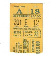1969 Joe Frazier v Jerry Quarry MSG On Site Stub