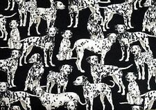 Fat Quarter Dalmation Dogs Dog 100% Cotton Quilting Fabric