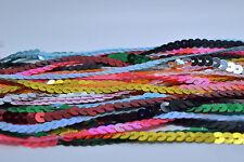 Strung Metallic Flat Sequins String Craft  Various Colours / 1Metre or 5 Metres