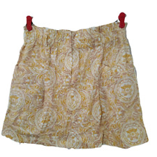 Forever 21 Large Tullip Cordoroy Skirt Short Cream & Mustard Pockets NWT $24
