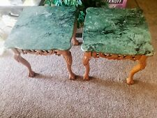 New listing Vintage marble top end tables