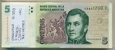 ARGENTINA BUNDLE 100 NOTES 5 PESOS (2015) P 353 UNC