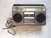 SONY Vintage Retro Rare Boombox FM AM Stereo Cassette-Corder CFS 55 USA Plug