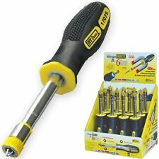 Ivy Classic Mega Magnetic 6 in 1 Screwdriver - 2 Nutdriver/2 Phillips/2 Slotted