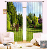 3D Green Courtyard Blockout Photo Curtain Printing Curtains Drapes Fabric Window